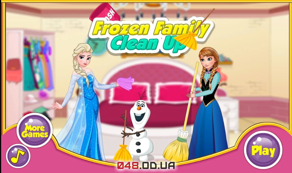 Игра на Андроид Frozen Family Clean up