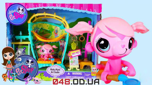 Littlest Pet Shop - Magic Motion Minka обезьянка Минки Mark Art Studio