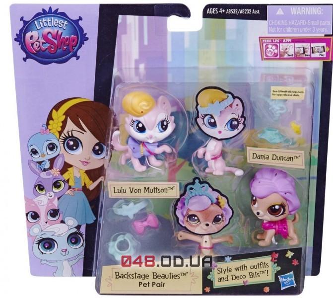 Игоровой набор Littlest Pet Shop Две модницы зверюшки с аксессуарами A8232-3