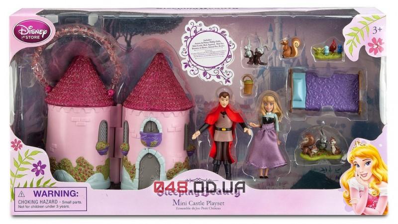 Игровой набор мини замок Disney принцесса Аврора и принц Филипп + аксессуары