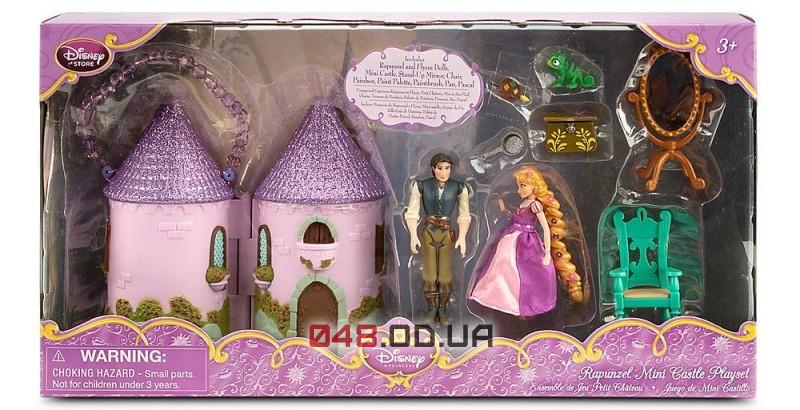 Игровой набор мини замок Disney принцесса Рапунцель и Флинн Райдер (Tangled) + аксессуары