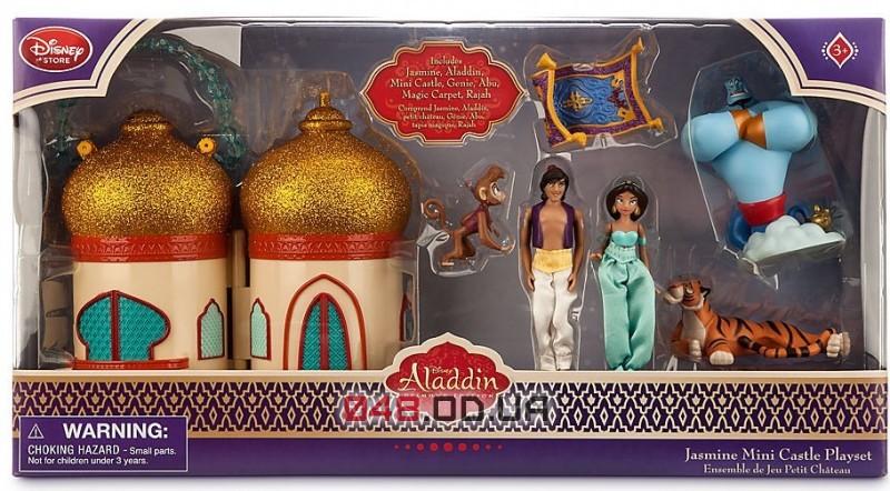 Игровой набор мини замок Disney принцесса Жасмин и Алладин + персонажи