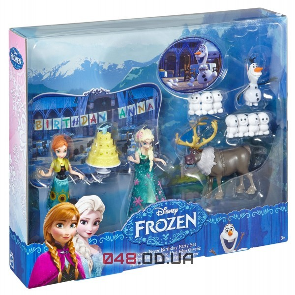 Игровой набор День рождения Анны Mattel холодное торжество (Frozen Fever Birthday Party Small Doll Set) DKC58