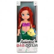 Кукла-аниматор Дисней русалочка Ариэль с питомцем (рыбка Флаундер), 40 см