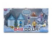 Игровой набор мини замок-сумочка Дисней Золушка и принц Чарминг + персонажи