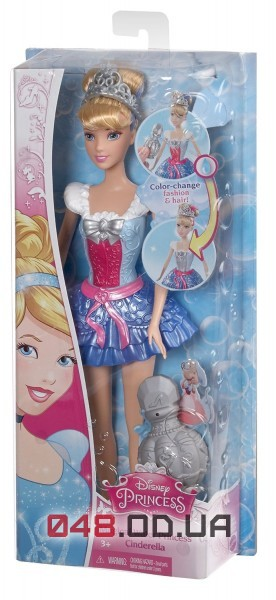 Игровой набор Mattel кукла Золушка меняет цвет корсета/платья для игр в ванной