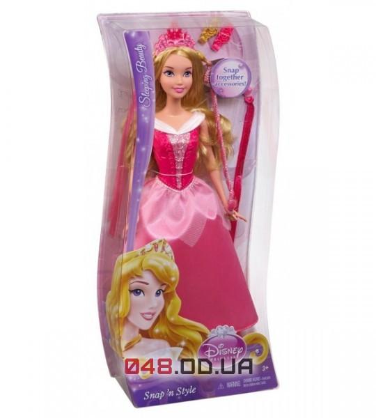 Кукла принцесса Аврора Mattel Snap'nStyle (Модные прически)