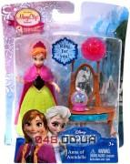 Игровой набор Mattel мини-принцесса Анна с трюмо, платье снимается, система Magic Clip