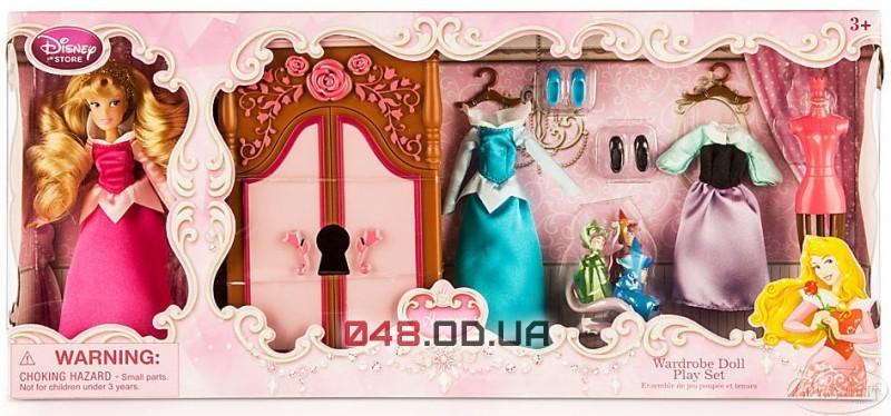 Игровой набор Disney кукла принцесса Аврора + гардероб