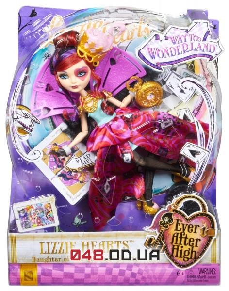 Кукла Ever After High Лиззи Хартс из серии Дорога в Страну Чудес (Lizzie Hearts Way Too Wonderland)