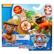 Мини-фигурка Зума-ковбой Spin master Щенячий патруль (Paw Patrol) с механической функцией