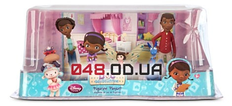 Игровой набор фигурок Disney Доктор Плюшева с родителями и Хелли (Doc McStuffins figurine playset with parent & Hallie figures)