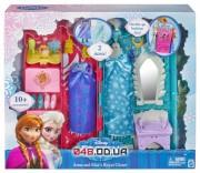 Игровой набор Mattel Кукольный шкаф Анны и Эльзы с аксессуарами и одеждой