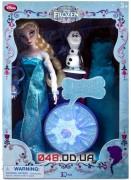 Игровой набор Дисней Deluxe Кукла поющая Эльза + снеговик Олаф (песня
