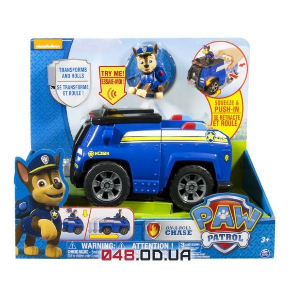 Большая машина-трансформер гонщик Чейз Spin master Щенячий патруль (Paw Patrol - Chase's Deluxe Cruiser), звук
