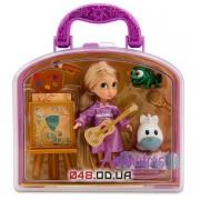 Игровой набор Дисней кукла мини аниматор Рапунцель с аксессуарами в чемоданчике (1й выпуск)