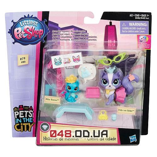 Игровой набор Littlest pet shop Рассказы о зверушках (Кошечки) B4482