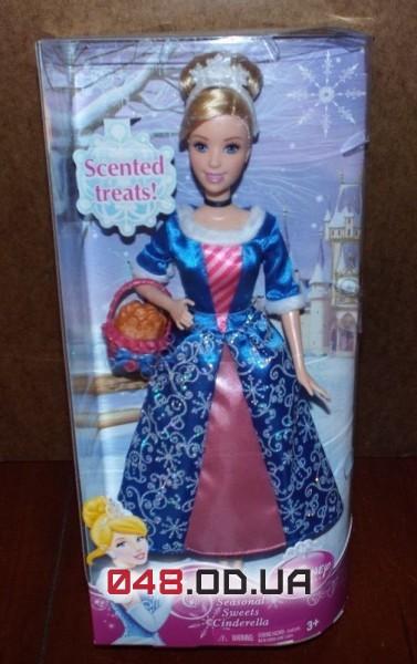 Кукла принцесса Дисней Золушка с корзинкой сладостей, пахнет