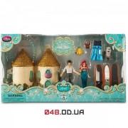 Игровой набор Дисней мини замок-сумочка русалочка Ариэль + принц Эрик и  аксессуары