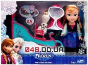 Игровой набор кукла Анна на санях + Олаф