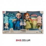 Подарочный набор кукол аниматоры Дисней Анна и Эльза поющие с одеждой и аксессуарами Холодное сердце (Disney Frozen Anna and Elsa Animators Collection Dolls Deluxe 2015 Set)