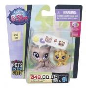 Игровой набор littlest pet shop зверюшка и малыш Ягуар (Sunny Cougar & Cubby Cougar) с аксессуарами, B4765/A7313