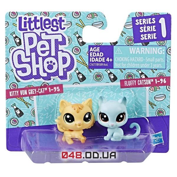 Игровой набор Littlest pet shop котята голубой и желтый 3,5 см B9389/C1677
