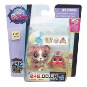 Игровой набор littlest pet shop зверюшка и малыш Собачка и крабик (Calla Boxton & Blossom Clawson) с аксессуарами, B5686/A7313