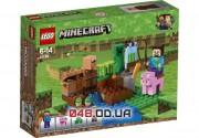 LEGO Minecraft Баштан (Бахчевая/Арбузная ферма) 69 деталей 4 минифигурки (21138)