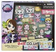 Игровой набор Littlest Pet Shop 4 зверюшки с аксессуарами (Getting Glamorous Pet Styling Pack) A8218
