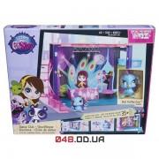 Игровой набор Littlest pet shop Модный танцевальный клуб - дискотека, DJ Блайс с павлином (Dance Club Style Set) B0118