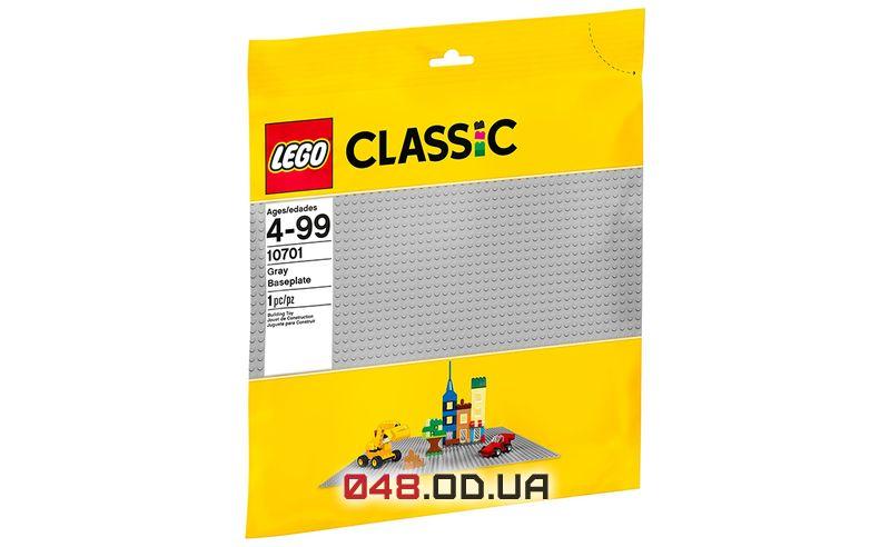 LEGO Classic cтроительная пластина серая 48х48 пина 380х380 мм (10701)