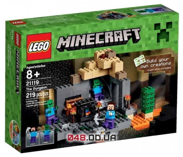 LEGO Minecraft Темница/Подземелье 219 деталей 3 минифигурки (21119)