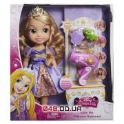 Кукла принцесса Дисней Рапунцель JakksPacific с музыкой , фен и аксессуары, 30 см.