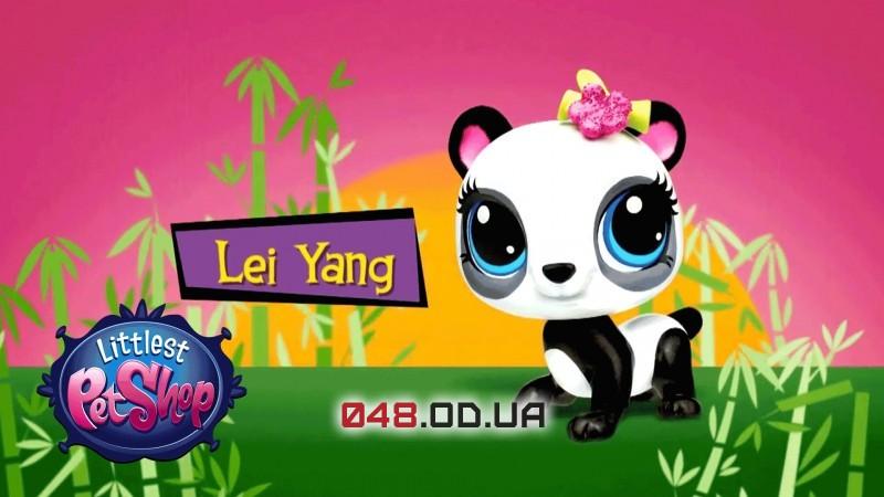 Эксклюзив!! Коллекционная фигурка Littlest pet shop панда Lei Yang