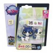 Набор из 2-х фигурок Littlest pet shop Зверюшка и ее малыш Кошечка и котенок с аксессуарами, B4763