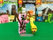 LELE аналог ЛЕГО Minecraft Минифигурки Свино-зомби и Оцелот (93001-5)