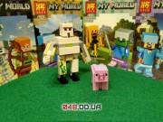 LELE аналог ЛЕГО Minecraft Минифигурки Железный голем и свинья (93002-6)