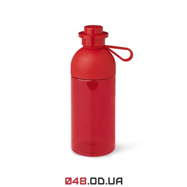 LEGO  Пляшка для води  яскраво-червона,напівпрозора, об'ємом - 0.5л (40420001)