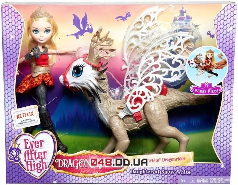 Игровой набор Ever After High кукла Эпл Вайт с драконом из серии