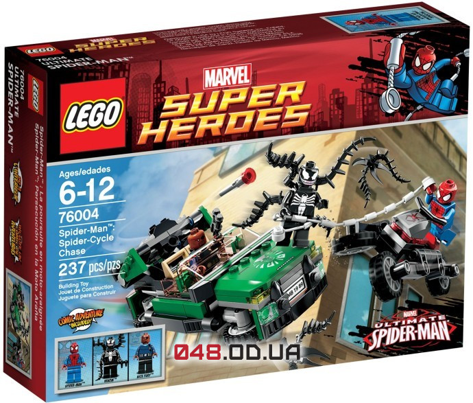 LEGO Super Heroes Охота со спайдер-циклом (76004)
