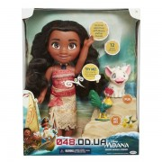 Игровой набор Jakks Pacific кукла Моана и друзья (поросенок Пуа и петушек Хей-хей), озвучена на английском