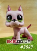 Фигурка Littlest pet shop собака-стоячка дог розовая