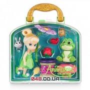 Игровой набор Дисней кукла мини аниматор фея Динь-Динь с аксессуарами в чемоданчике (1й выпуск)