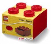 LEGO Органайзер на стол с выдвижным ящиком на 4 точки (красный)