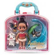 Игровой набор Дисней кукла мини аниматор Моана с аксессуарами в чемоданчике