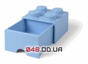 LEGO Пластиковый мини-кубик для хранения 4, выдвижной, голубой