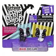 Игровой набор Littlest Pet Shop Медвежата мини черно-белые C2151/C1848