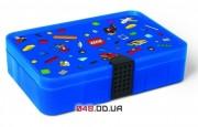 LEGO контейнер для конструктора с разделителями, синий