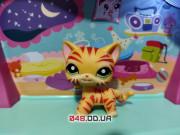 Littlest pet shop Кошка-стоячка рыжая тигровая в полоску